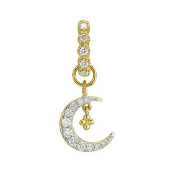 Petite Diamond Crescent Moon Charm