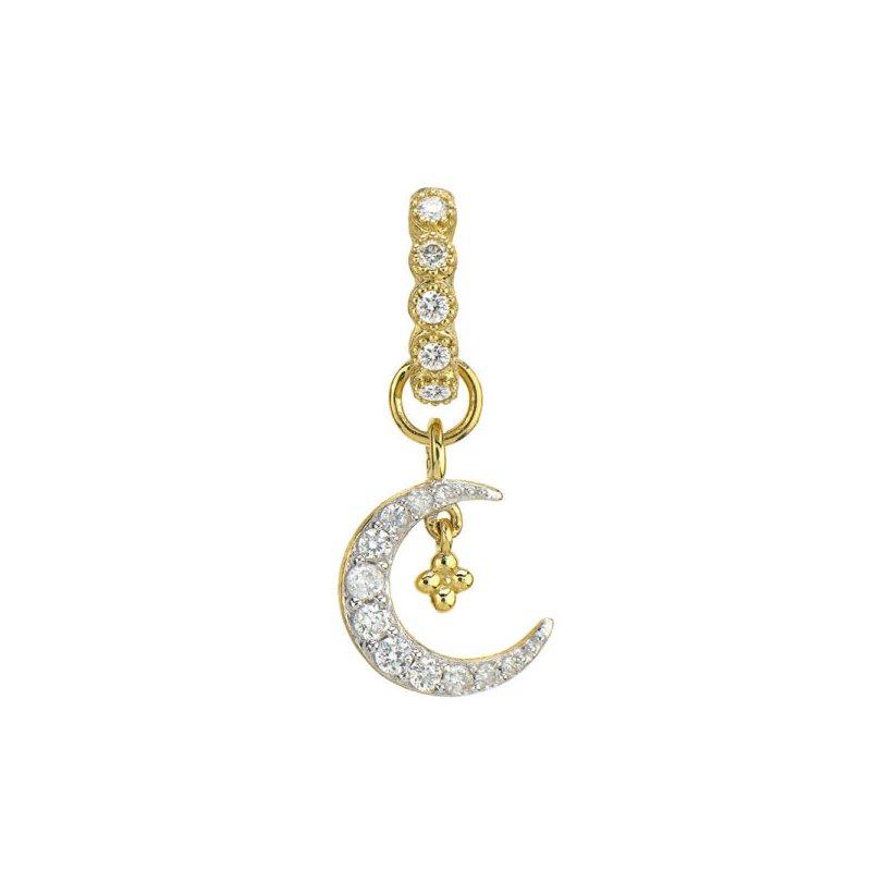 JudeFrances Petite Diamond Crescent Moon Charm