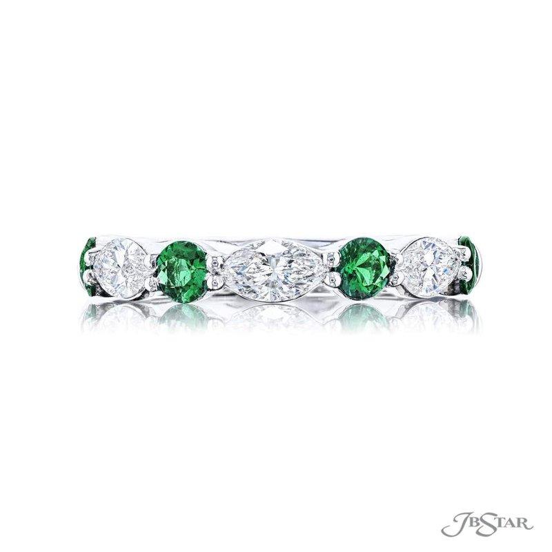 JB Star Emerald & Marquise Diamond East West Band