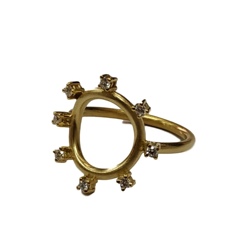 Marika Open Circle Diamond Ring