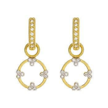 Provence Champagne Open Circle Trio Diamond Earring Charms