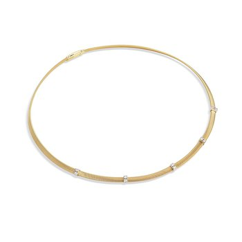 Masai Diamond Five Station Collar Necklace