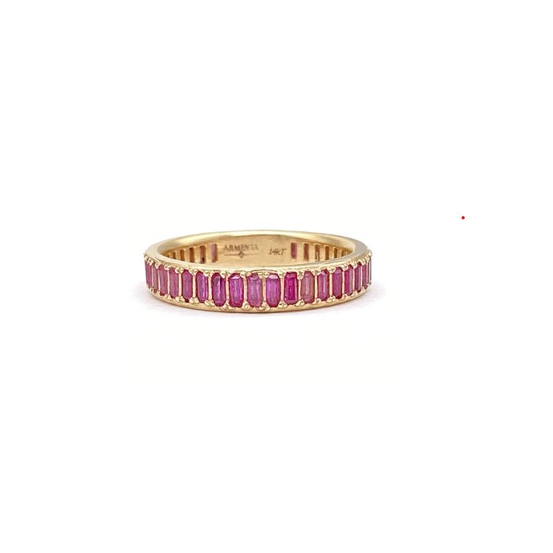 Armenta Pink Sapphire Baguette Ring