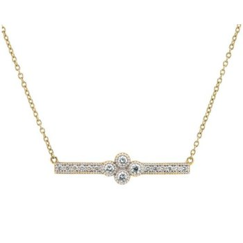 Provence Pave Diamond Bar Necklace