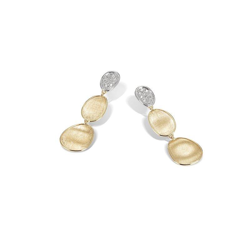 Marco Bicego Lunaria Diamond Petite Triple Drop Earrings