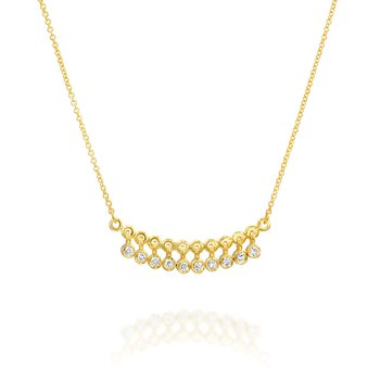 Dangling Bezel Set Diamond Necklace