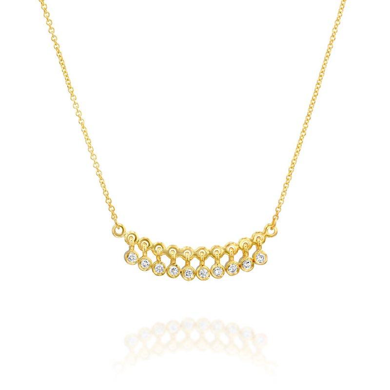 Marika Dangling Bezel Set Diamond Necklace
