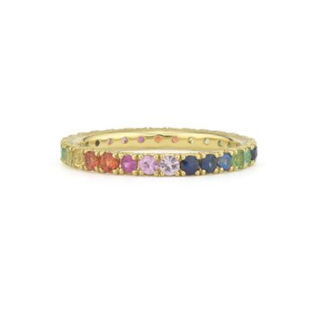 Rainbow French Pave Band
