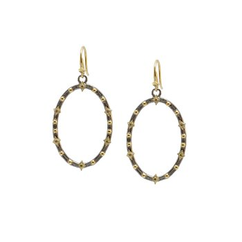 Oval Crivelli and Granulation Earrings