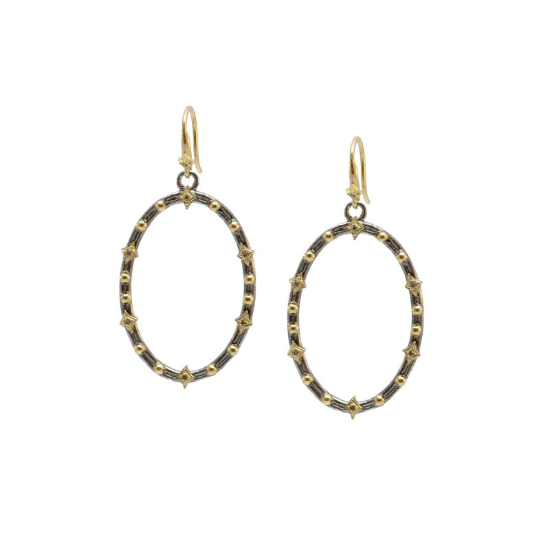 Armenta Oval Crivelli and Granulation Earrings