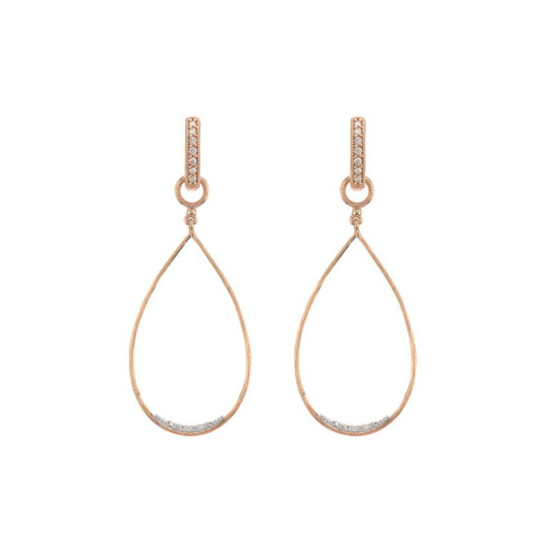 JudeFrances Open Pear Earrings Charm