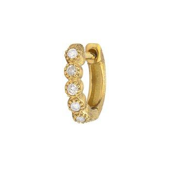 Petite Diamond Bezel Hoop Earring