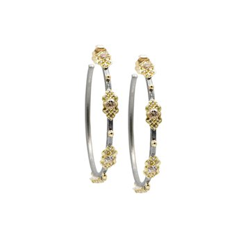 Station Side Hoop Earrings