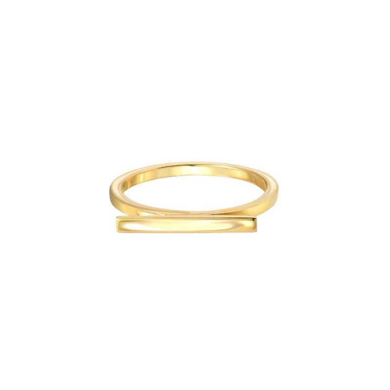 "Zoe Lev Engraved ""LOVE"" Bar Ring"