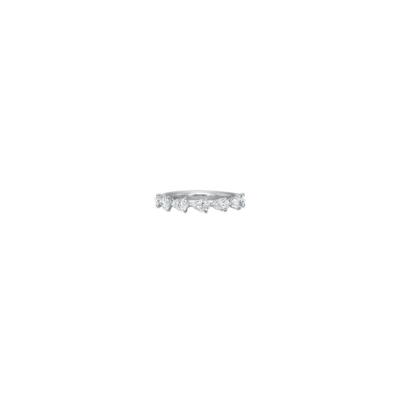 Precision Set 18K White Gold Pear Diamond Band