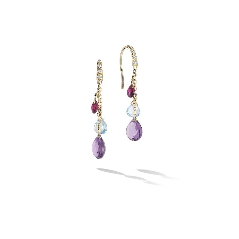 Marco Bicego Paradise Diamond and Mixed Gemstone Short Drop Earrings