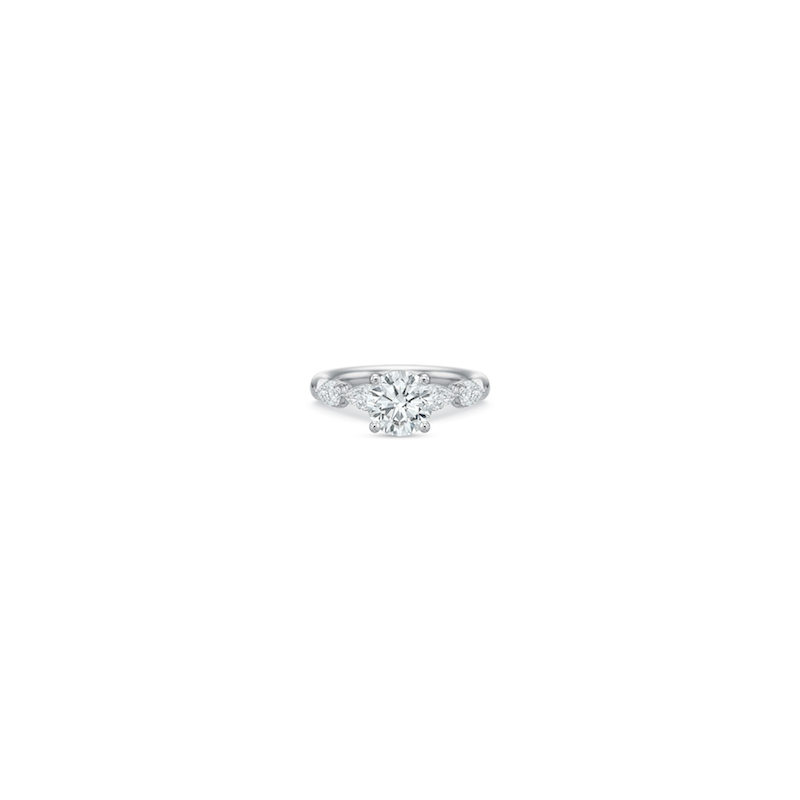 Precision Set 18k White Gold Pear Diamond Setting
