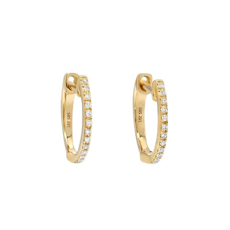 Zoe Lev Diamond Huggie Earrings