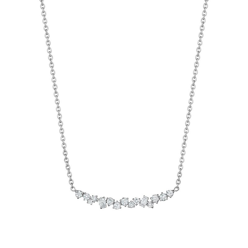 Penny Preville Curved Diamond Cluster Necklace