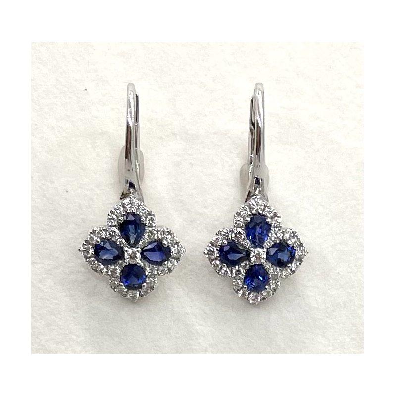 Spark Creations Sapphire & Diamond Earrings