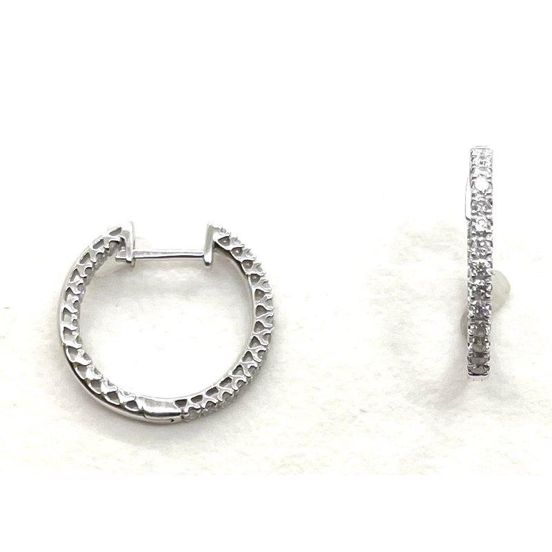 RMJ Signature Diamond Hoop Earrings