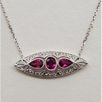 Ruby & Diamond deco pendant