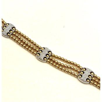 Three Row Beaded Bracelet