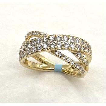 Diamond Fashion X Ring