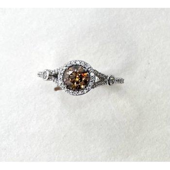 Chocolate & White Diamond Ring