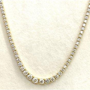 Graduated Diamond Riviera necklace