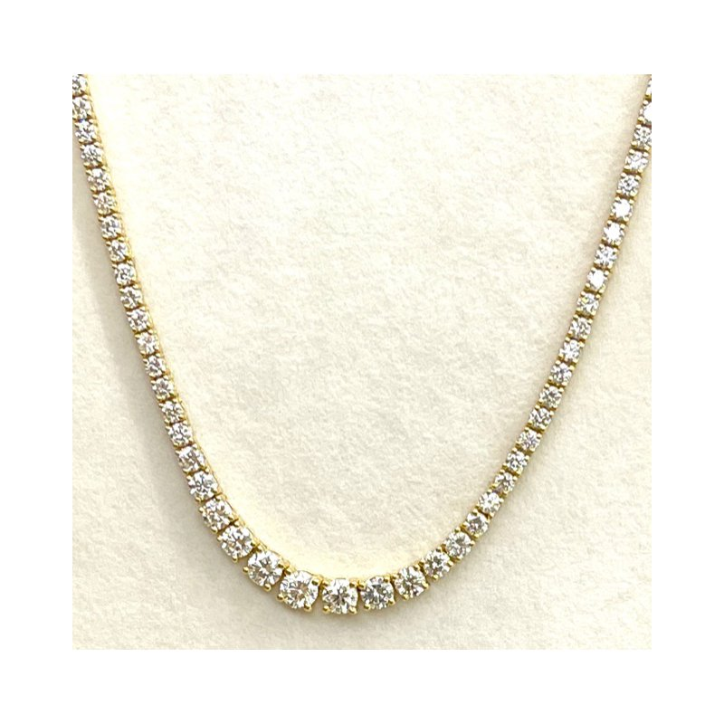 RMJ Signature Graduated Diamond Riviera necklace