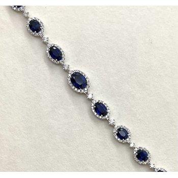 Sapphire & Diamond Riviera Necklace