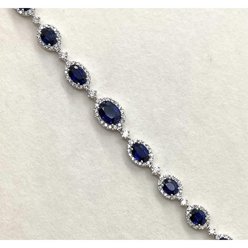 RMJ Signature Sapphire & Diamond Riviera Necklace