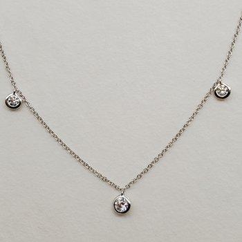 Diamond dangle necklace