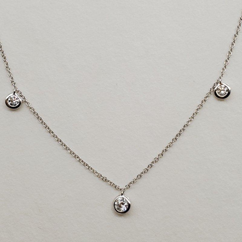 RMJ Signature Diamond dangle necklace