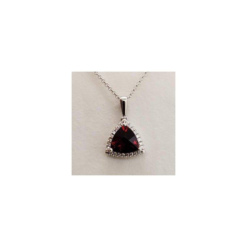 Coast Diamond Garnet & Diamond Pendant