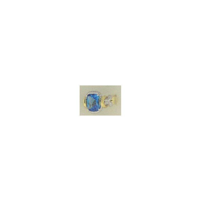 Spark Creations Blue Topaz & Diamond Ring