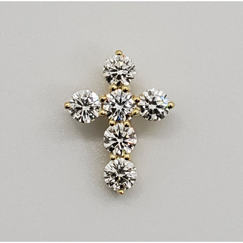 RMJ Signature Diamond cross pendant