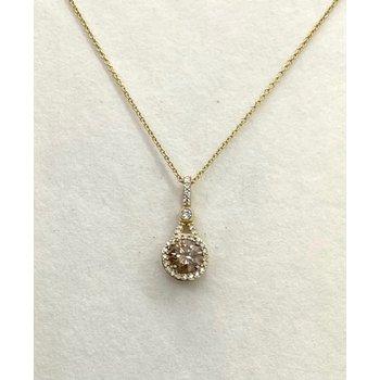 Chocolate & White Diamond Pendant
