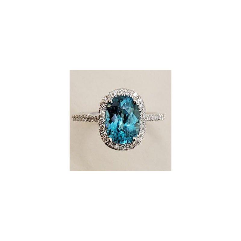 Coast Diamond Blue Zircon & Diamond Ring