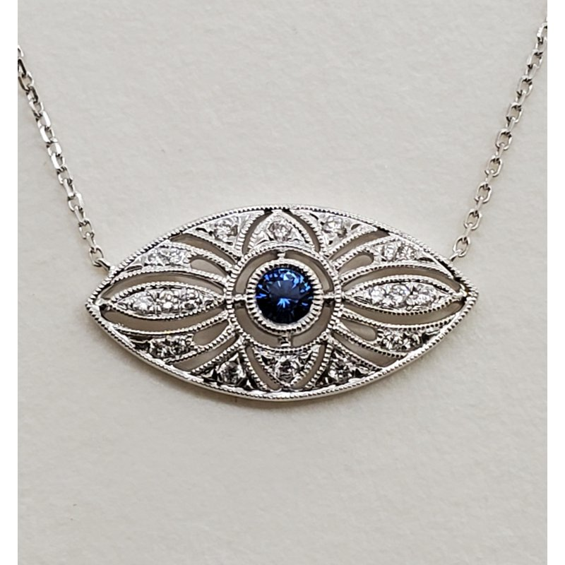 RMJ Signature Sapphire & Diamond deco pendant