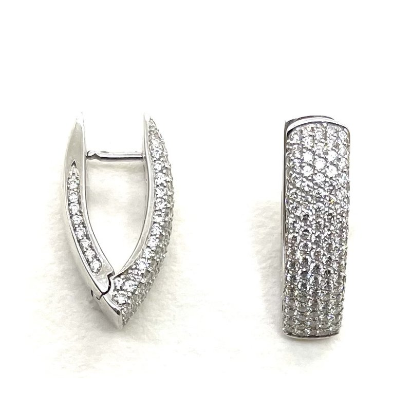 RMJ Signature Pave Hoop Earrings