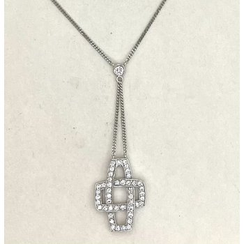 Lariat Style Diamond Pendant