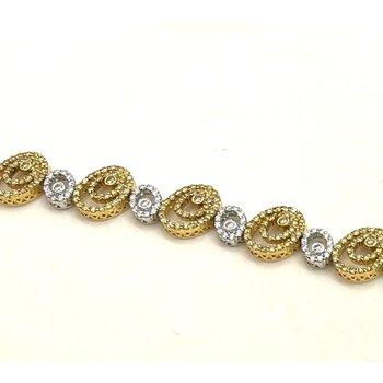 Diamond Oval Link Bracelet