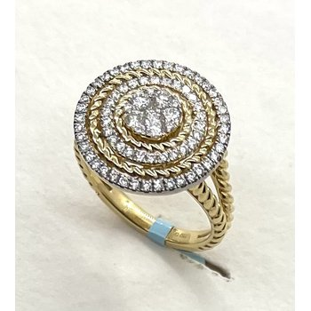 Diamond Ring with Rope Design