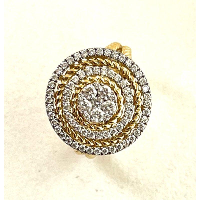 RMJ Signature Diamond Ring with Rope Design