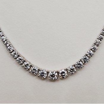 Diamond Riviera graduated necklace
