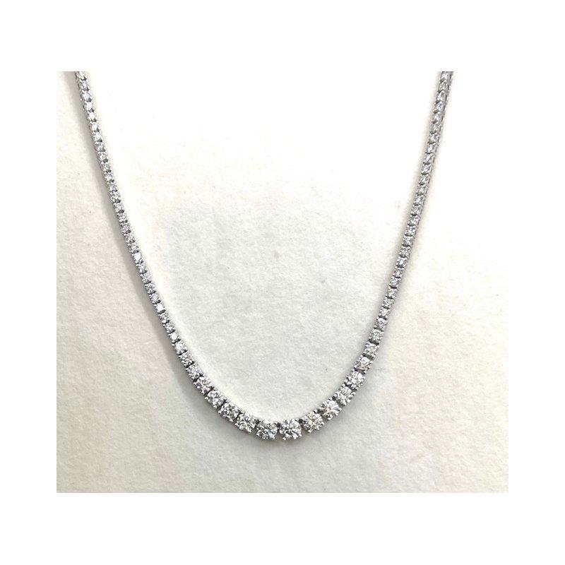 RMJ Signature Diamond Riviera graduated necklace