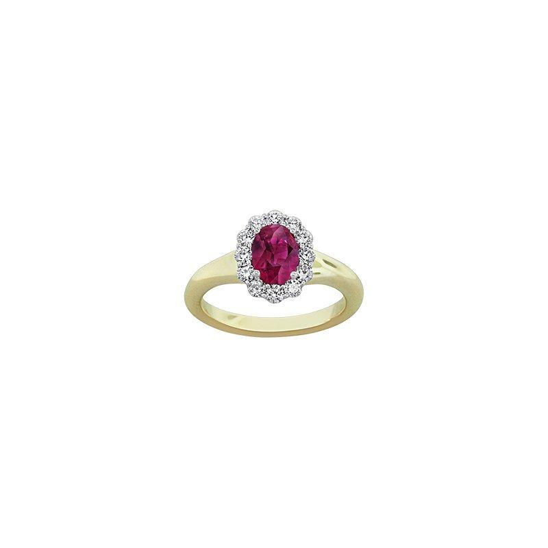 Spark Creations Ruby & Diamond ring