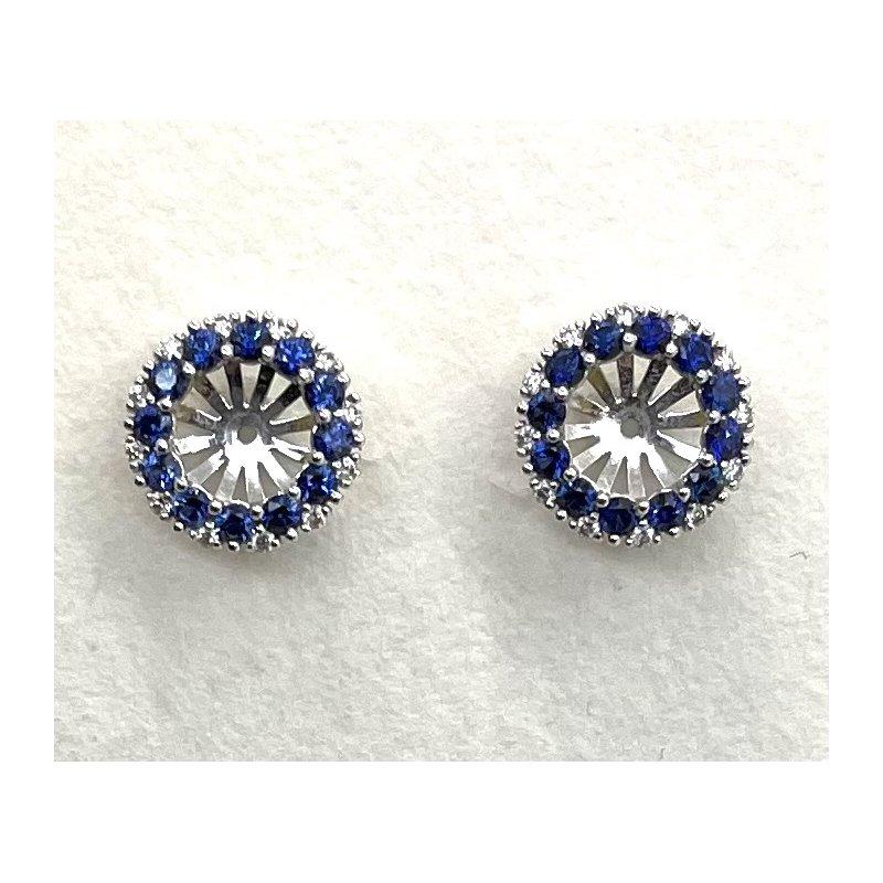 Spark Creations Sapphire & Diamond Earring Jackets